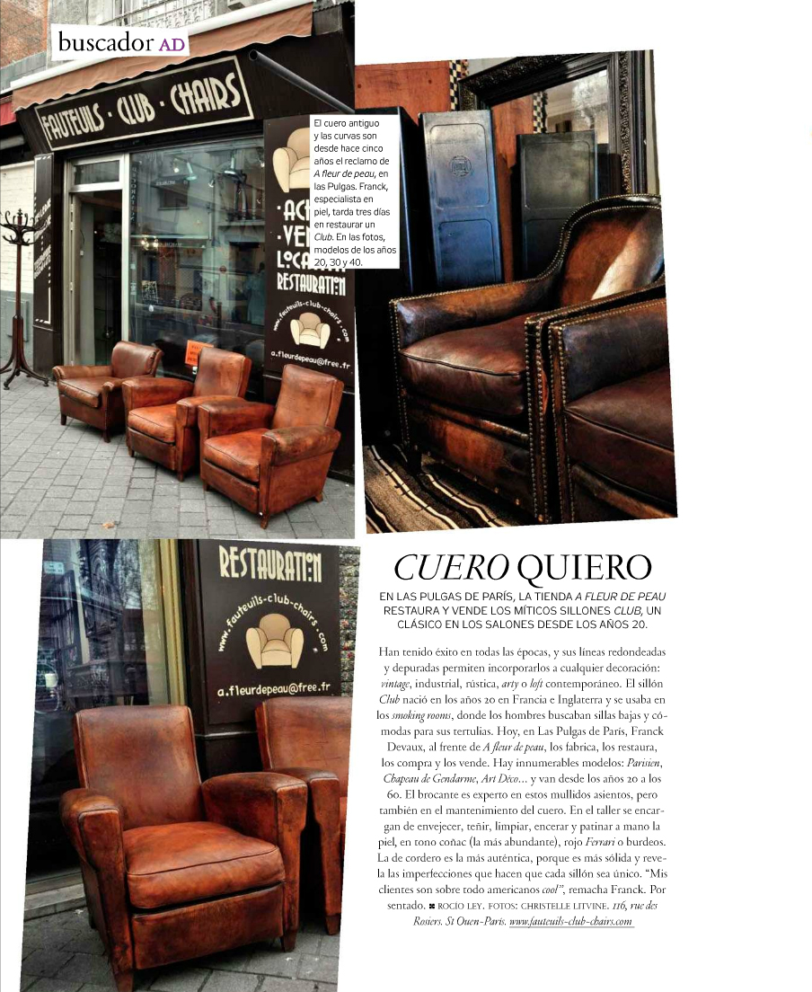Article fauteuil club